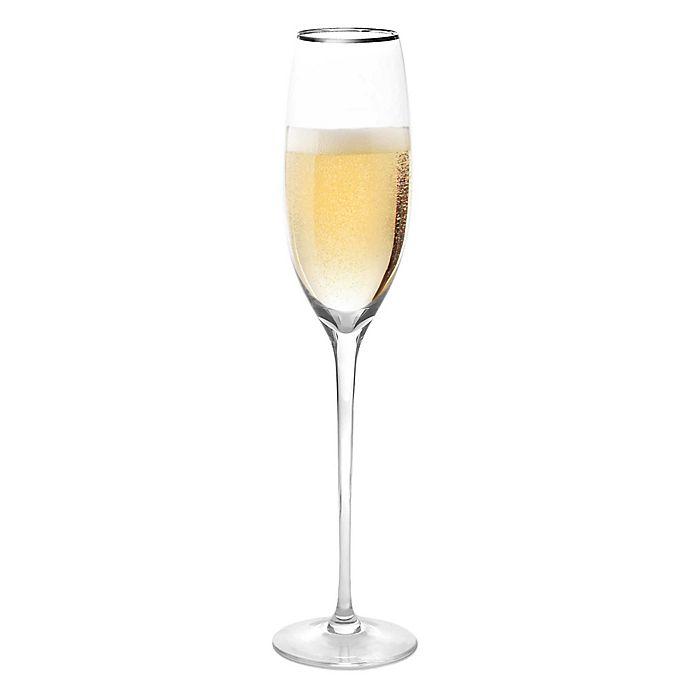 Alternate image 1 for Olivia & Oliver™ Madison Platinum Champagne Flutes (Set of 4)