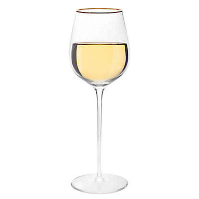 Olivia & Oliver Madison Gold White Wine Glasses (Set of 4)