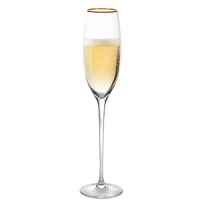 Alternate image 1 for Olivia & Oliver™ Madison Gold Champagne Flutes (Set of 4)