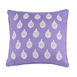 Jessica Simpson Mosaic Border Square Throw Pillow in Purple