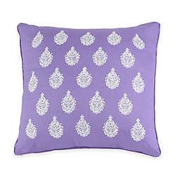 Jessica Simpson Mosaic Border Square Throw Pillow in Purple