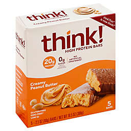 think!® 5-Pack Creamy Peanut Butter High Protein Bars