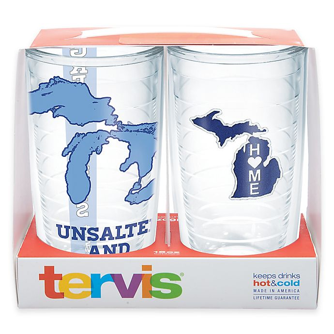 Alternate image 1 for Tervis® Michigan/Great Lakes 16 oz. 2-Piece Tumbler Gift Set