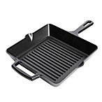 Artisanal Kitchen Supply® 10-Inch Pre-Seasoned Cast Iron Square Grill Pan