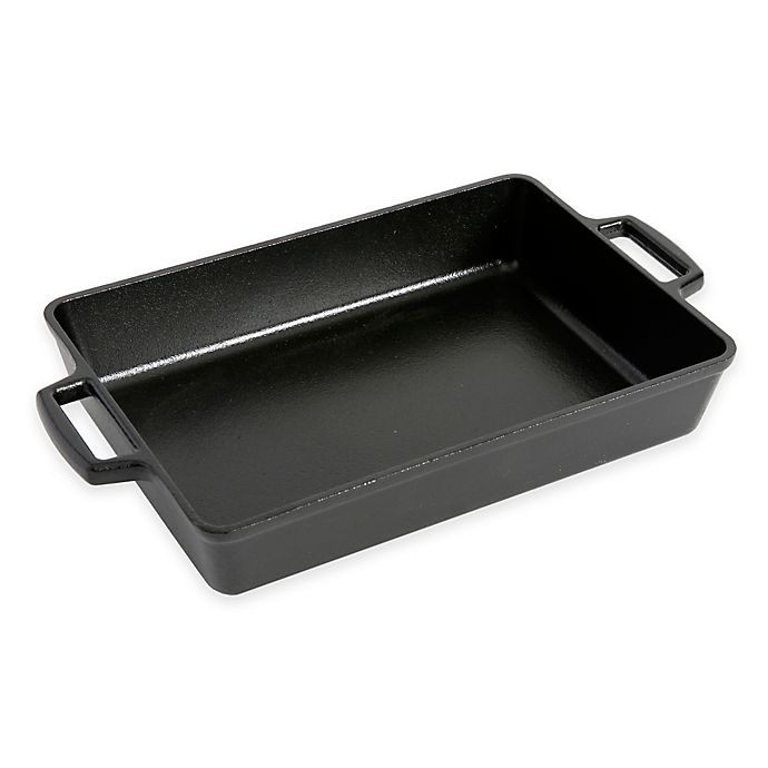 Alternate image 1 for Artisanal Kitchen Supply® 13-Inch Pre-Seasoned Cast Iron Roast Pan