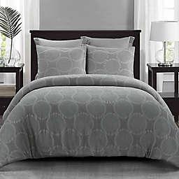 Donna Sharp Leon 3-Piece King Comforter Set in Grey