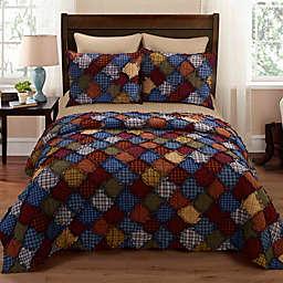 Donna Sharp® Blue Ridge 3-Piece King Quilt Set in Blue
