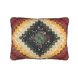 Donna Sharp Spice Postage Stamp Pillow Sham in Red