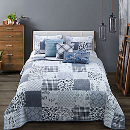 Donna Sharp® Silver Branch King Quilt in Blue