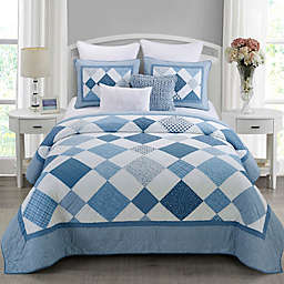 Donna Sharp Azure Diamond King 3-Piece Quilt Set