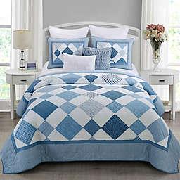Donna Sharp® Azure Diamond 3-Piece King Quilt Set