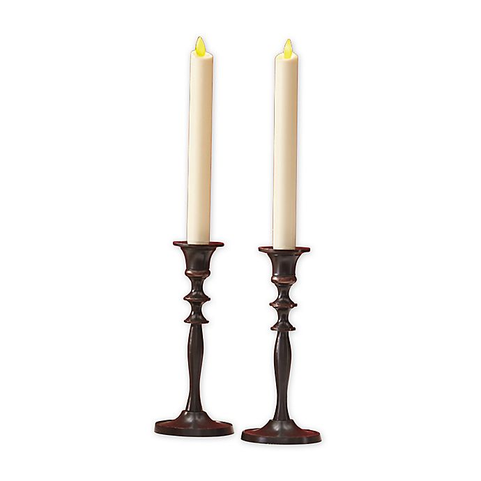 Luminara Real Flame Effect 8 Inch Battery Operated Taper Candles In Ivory Set Of 2 Bed Bath And Beyond Canada