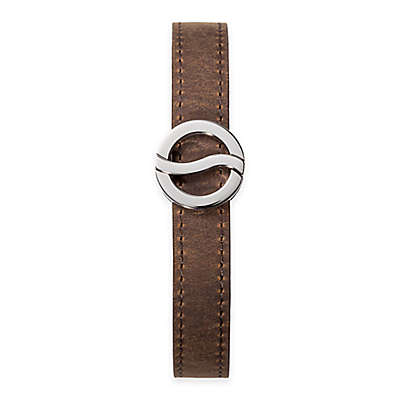 Philip Stein Stainless Steel Horizon Bracelet with Brown Leather Strap