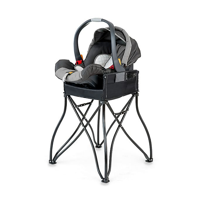 Alternate image 1 for Phoenix Baby GoTo™ 2-in-1 Infant Car Seat Station and Travel High Chair in Black