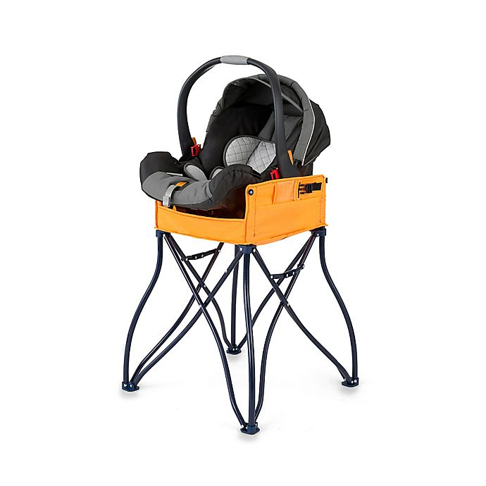 Alternate image 1 for Phoenix Baby GoTo™ 2-in-1 Infant Car Seat Station and Travel High Chair in Orange