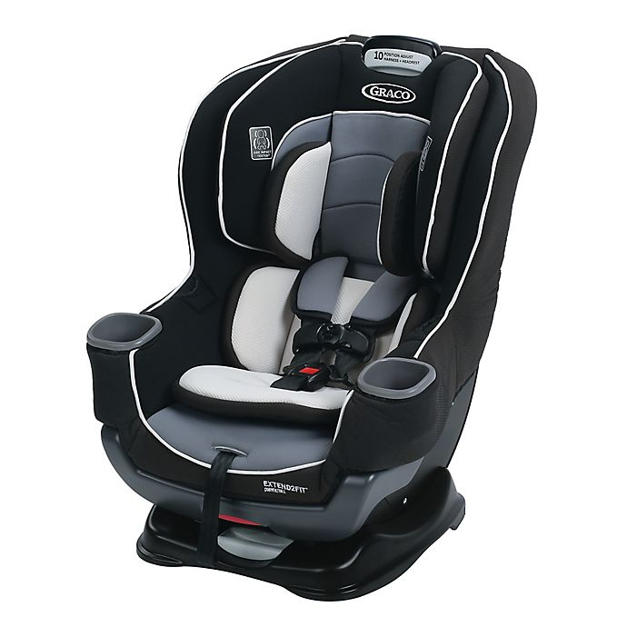Alternate image 1 for Graco® Extend2Fit™ Convertible Car Seat with Cover in Grey