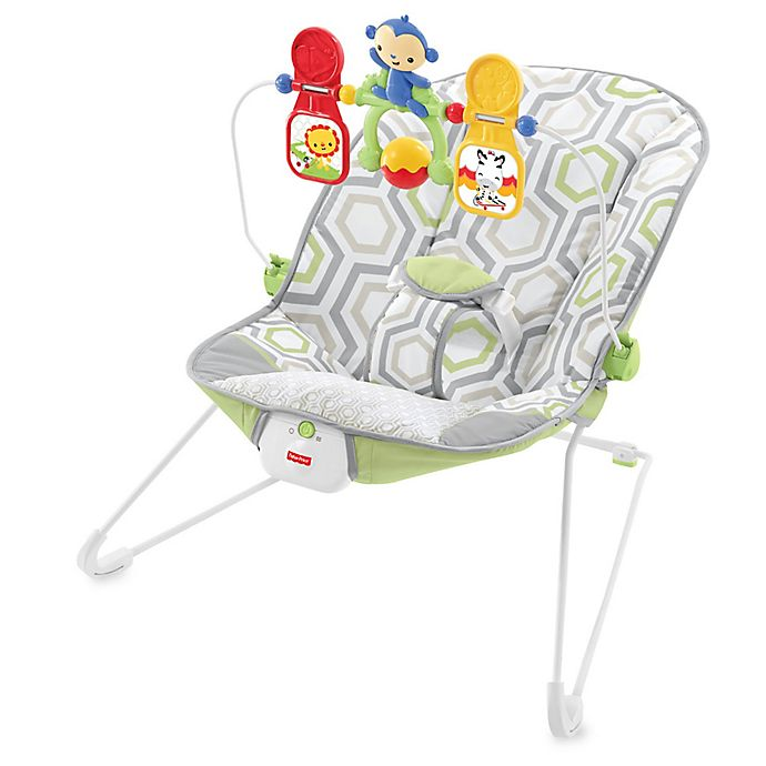 Alternate image 1 for Fisher-Price® Baby's Bouncer in Geo Meadow™