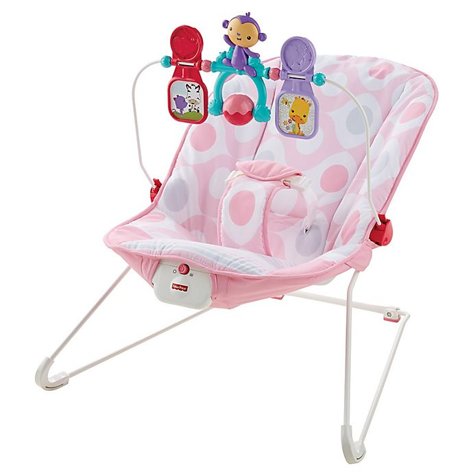 Alternate image 1 for Fisher-Price® Baby's Bouncer in Pink Ellipse™