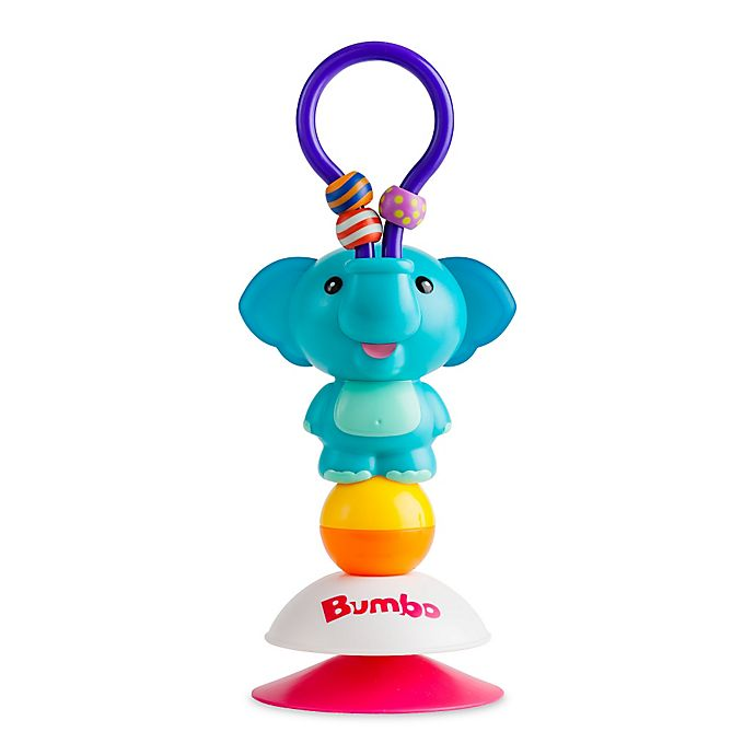 Alternate image 1 for Bumbo Enzo Elephant Suction Toy in Orange/Yellow