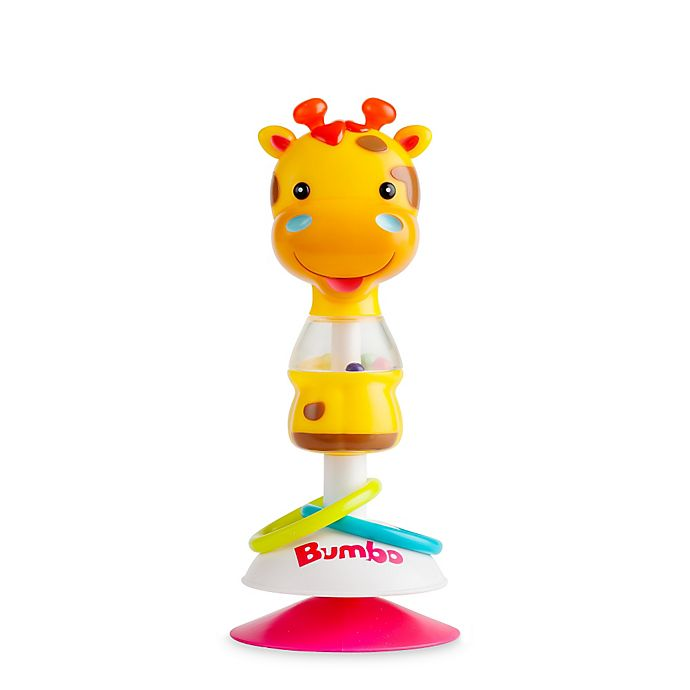 Alternate image 1 for Bumbo Gwen Giraffe Suction Toy in Yellow
