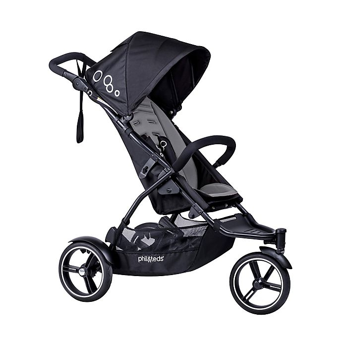 Alternate image 1 for phil&teds® Dot Stroller with Double Kit in Graphite