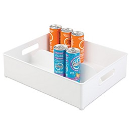 InterDesign Fridge Binz 12-Inch x 14.5-Inch Split Freezer Storage Bin in White