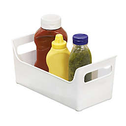 iDesign® Fridge Binz™ 5.5-Inch x 11-Inch Portable Condiment Caddy in White