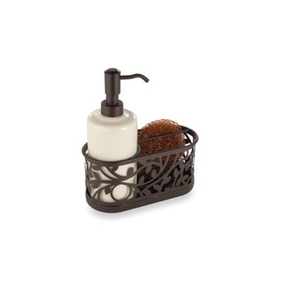 Interdesign Vine Kitchen Sink Soap Dispenser Pump And Sponge Caddy In Bronze Bed Bath Beyond