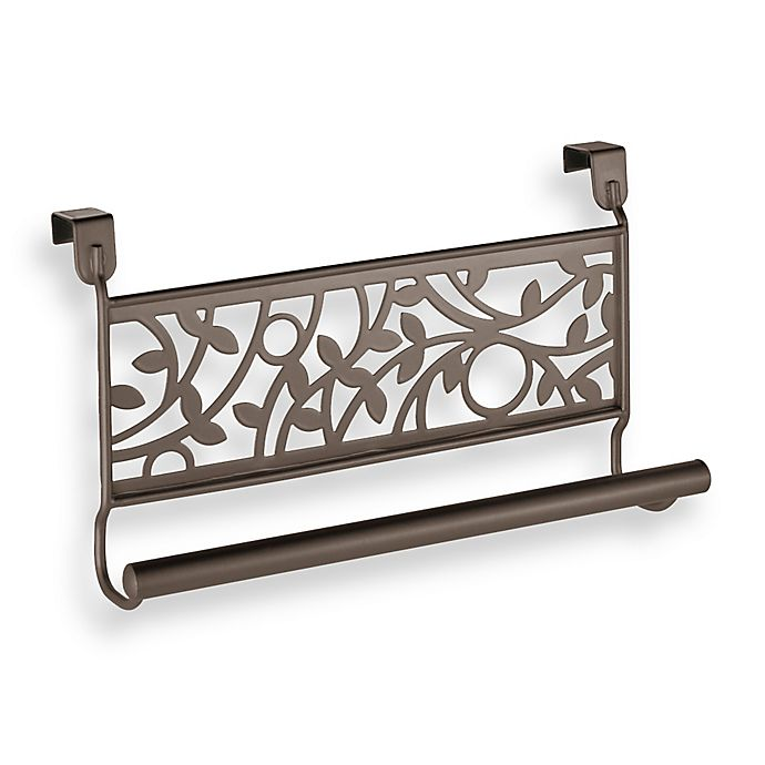 Alternate image 1 for InterDesign® Vine Over the Cabinet Kitchen Dish Towel Bar in Bronze