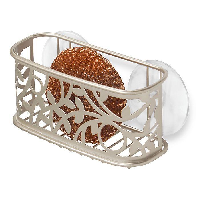 Alternate image 1 for InterDesign® Vine Kitchen Sink Suction Sponge Holder in Satin