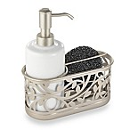 InterDesign® Vine Kitchen Sink Soap Dispenser Pump and Sponge Caddy in Satin