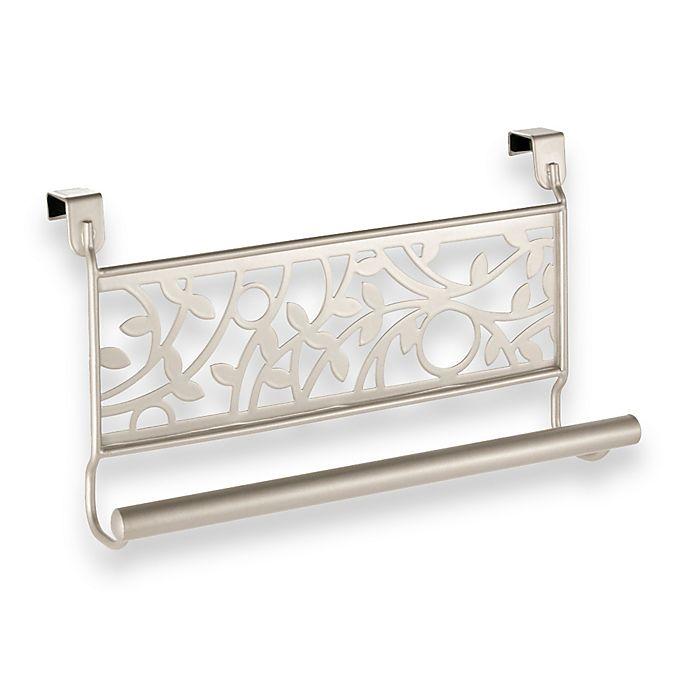Alternate image 1 for InterDesign® Vine Over the Cabinet Kitchen Dish Towel Bar in Satrin