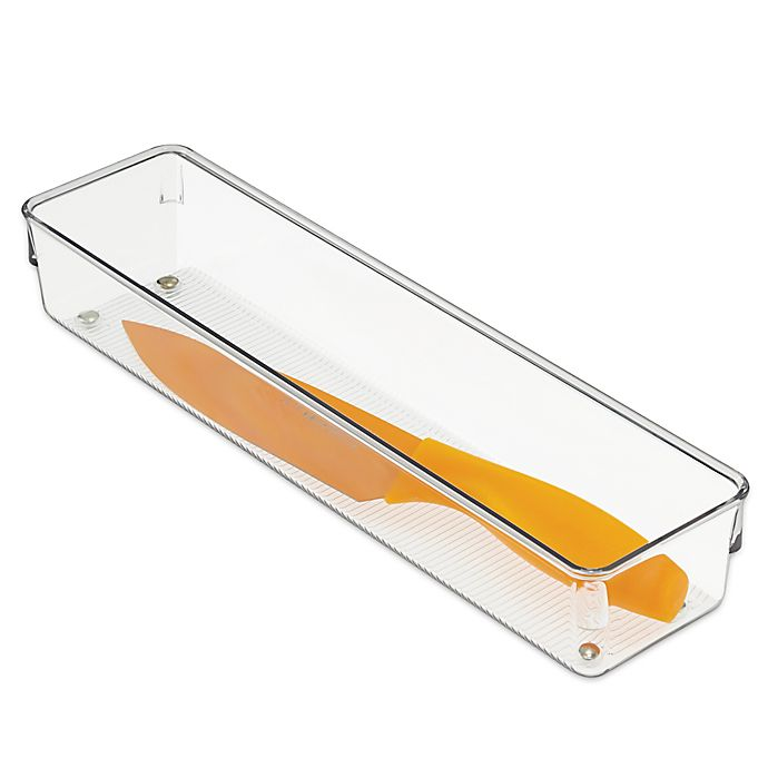 Alternate image 1 for iDesign® Linus Acrylic 3-Inch x 12-Inch Drawer Organizer
