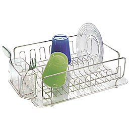 InterDesign® Forma Lupe Dish Drainer in Stainless Steel