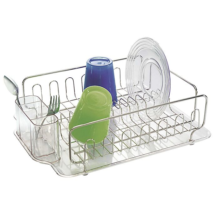 Alternate image 1 for InterDesign® Forma Lupe Dish Drainer in Stainless Steel
