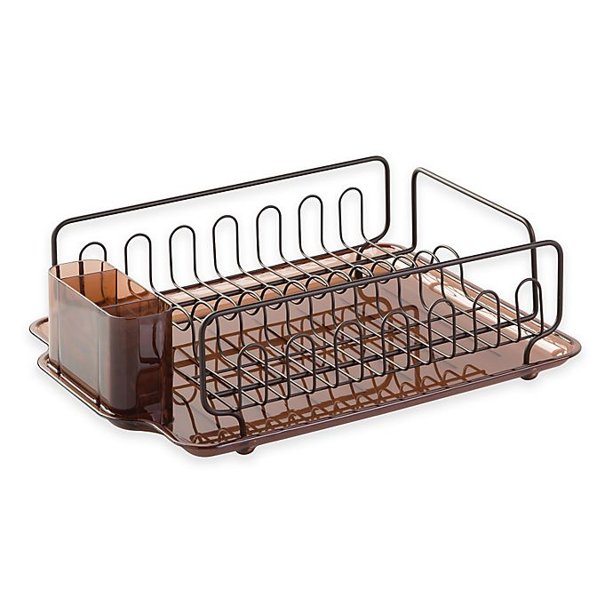 Alternate image 1 for InterDesign® Forma Lupe Dish Drainer in Bronze