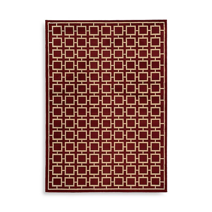 Alternate image 1 for Oriental Weavers Ella Squares 7-Foot 10-Inch x 10-Foot Area Rug in Red