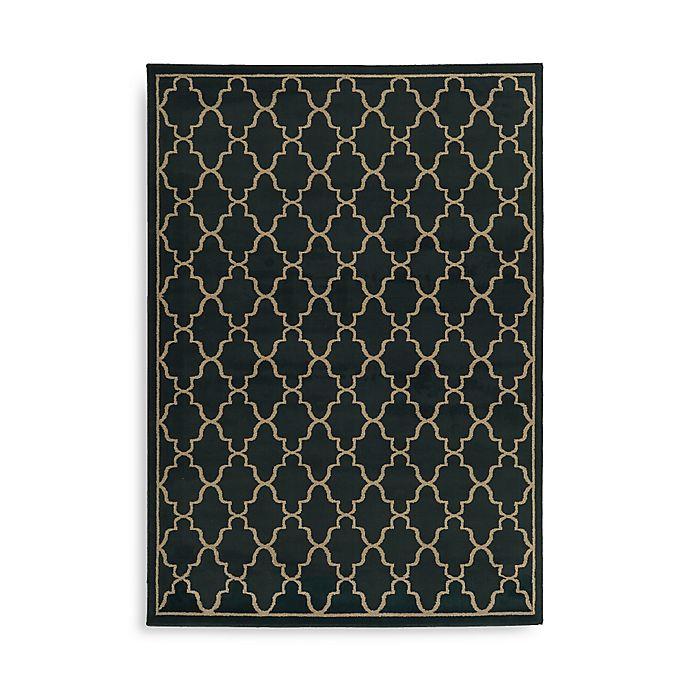 Alternate image 1 for Oriental Weavers Ella Trellis 7-Foot 10-Inch x 10-Foot Area Rug in Navy
