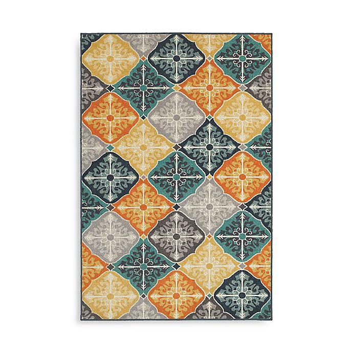 Alternate image 1 for Oriental Weavers Hampton Tiles 9-Foot 10-Inch x 12-Foot 10-Inch Multicolor Area Rug