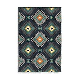 Oriental Weavers Hampton Geometric Diamond Rug in Navy