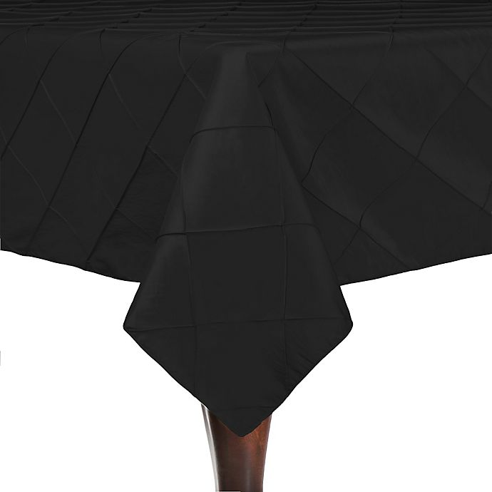 Alternate image 1 for Bombay 84-Inch Square Tablecloth in Black