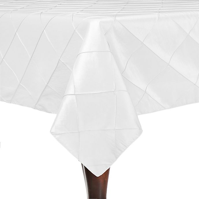 Alternate image 1 for Bombay 84-Inch Square Tablecloth in White