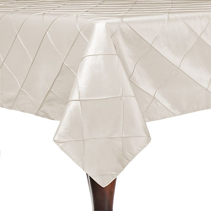 Alternate image 1 for Bombay 84-Inch Square Tablecloth in Ivory