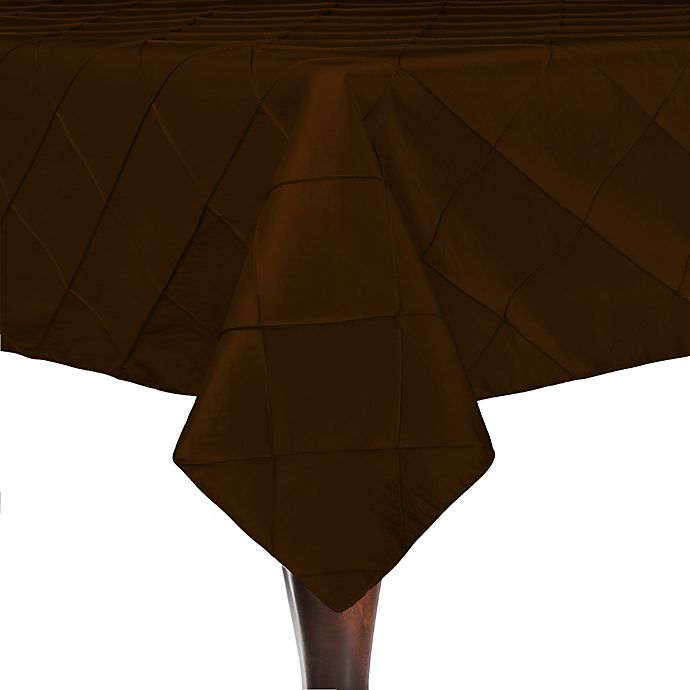 Alternate image 1 for Bombay 54-Inch Square Tablecloth in Chocolate