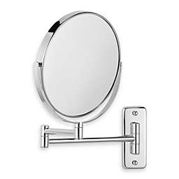 Jerdon Wall Mount 8X/1X Magnifying Swivel Dual-Sided Mirror in Chrome