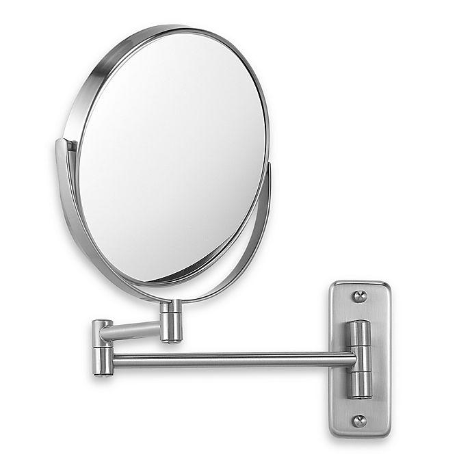 Jerdon Wall Mount 8x 1x Magnifying Swivel Mirror In Nickel