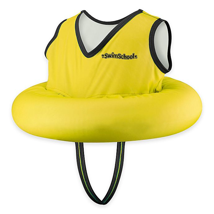 Alternate image 1 for Aqua Leisure® Deluxe Tot Trainer with Safety Strap in Yellow