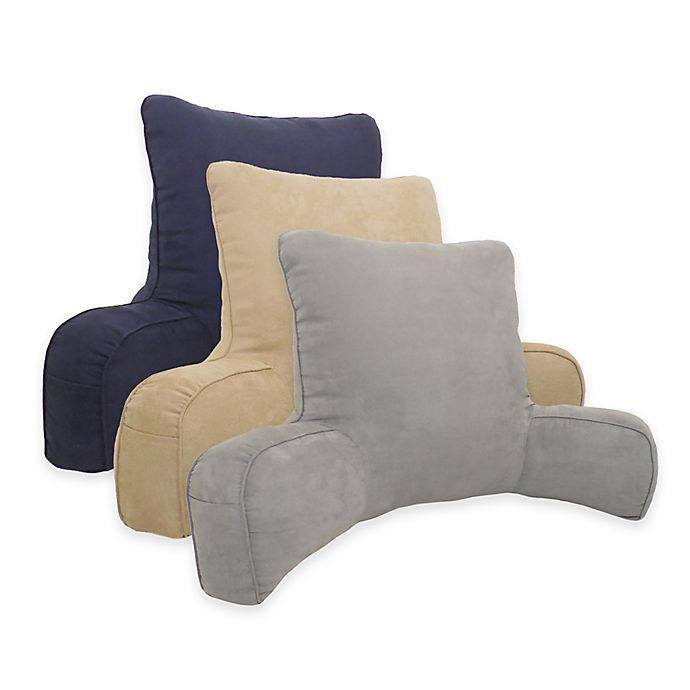 Alternate image 1 for Arlee Home Fashions® Suede Oversized Backrest Pillow