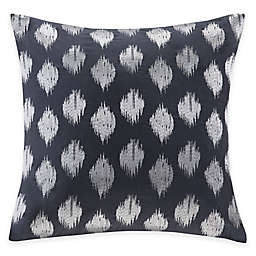 INK+IVY Nadia Dot Embroidered Square Throw Pillow in Navy