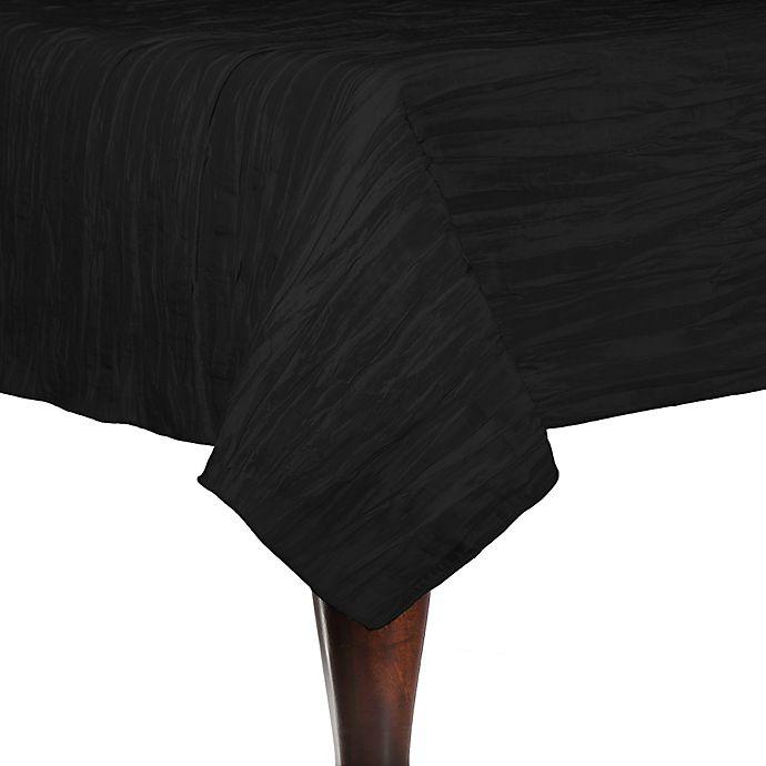 Alternate image 1 for Delano 84-Inch Square Tablecloth in Black